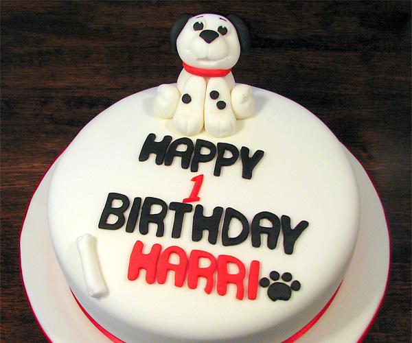 Dalmation 1st Birthday Cake