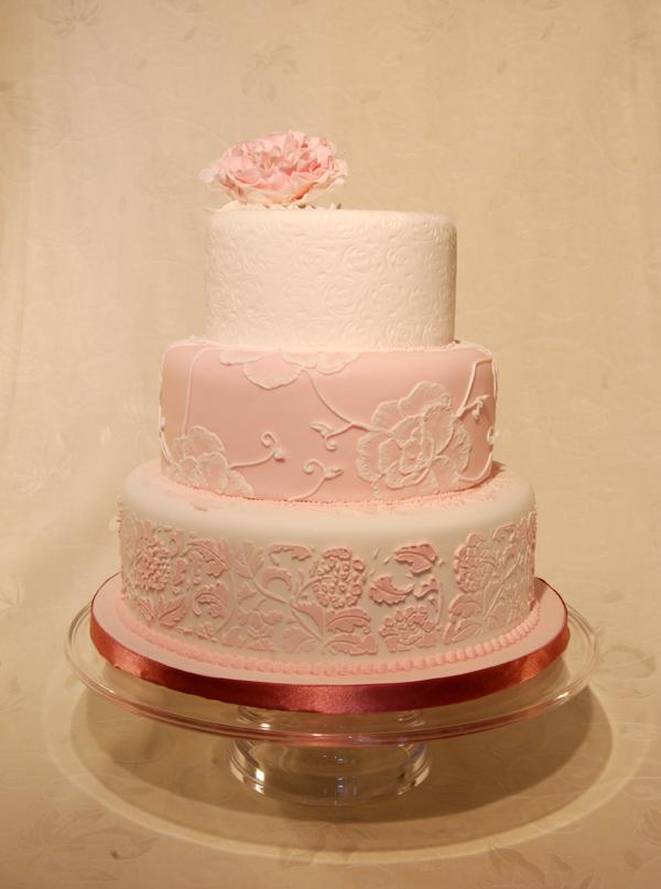 Wedding Cake Pink Peony