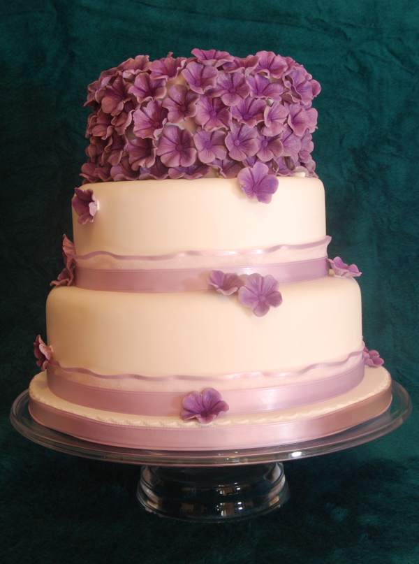 Wedding Cake Purple Blossom