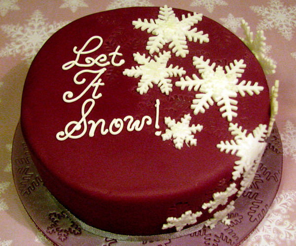 Let it Snow Christmas Cake