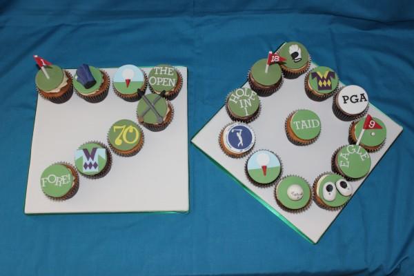 70th Golf Cupcakes