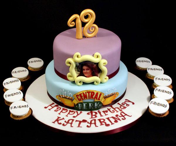'Friends' theme 18th Birthday Cake