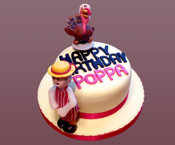 Cartoon Butcher & Turkey Topper