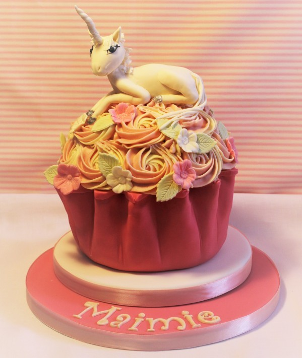 Unicorn Giant Cupcake