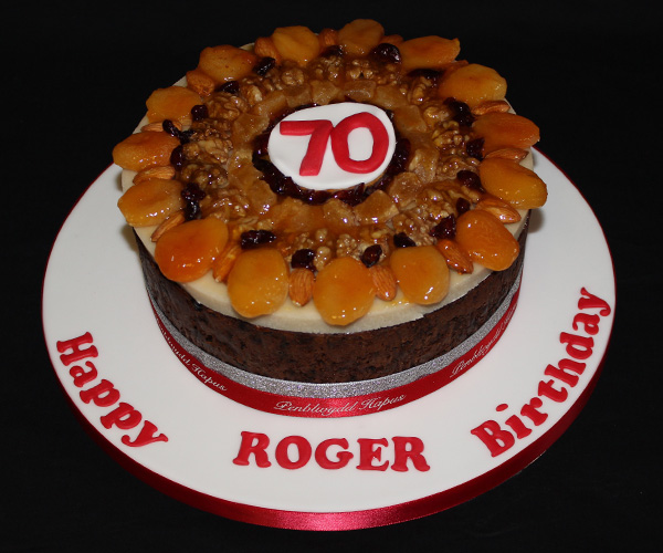 70th Birthday Fruit Cake