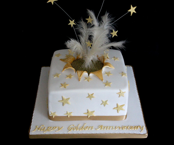 50th Anniversary Stars Cake