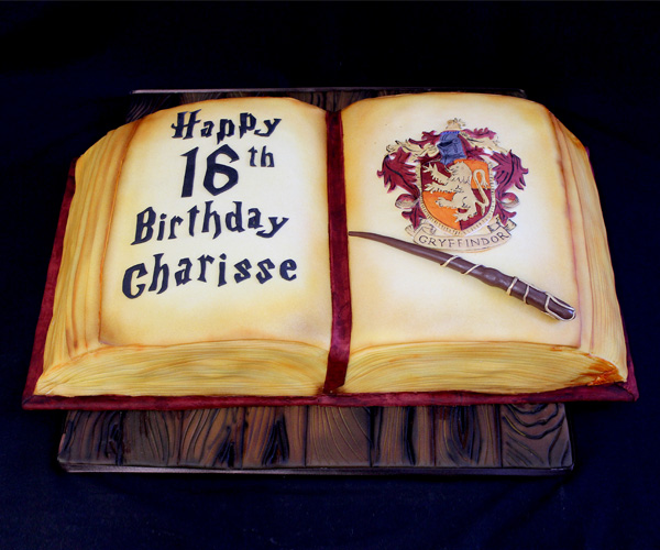 16th Harry Potter Spell Book Cake