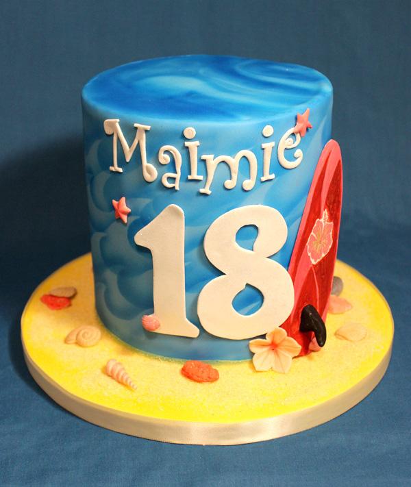 18th Surfer Girl Cake