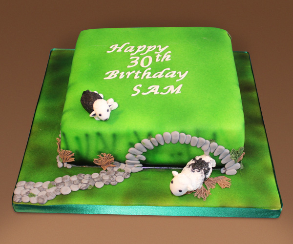 30th Sheep In Field Cake