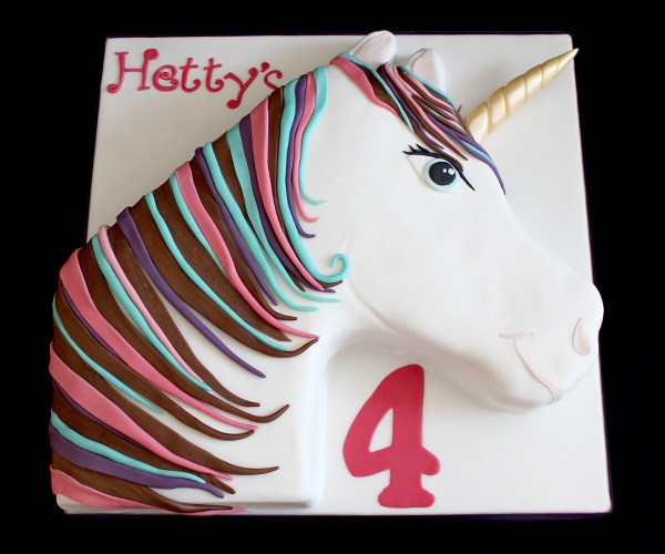 4th Birthday Unicorn Cake