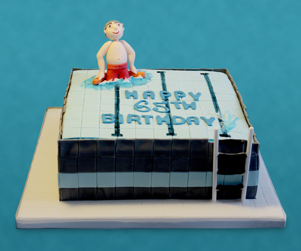 65th Swimming Pool Cake
