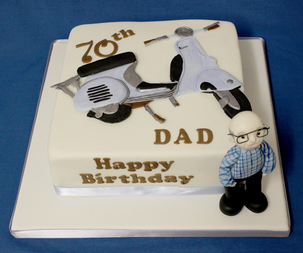 70th Dad Vespa Cake