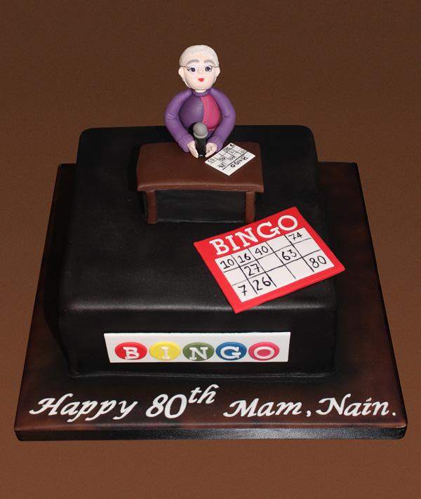 80th Bingo Birthday Cake