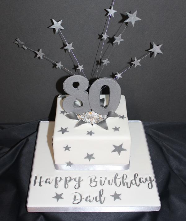 80th Dad Stars Cake