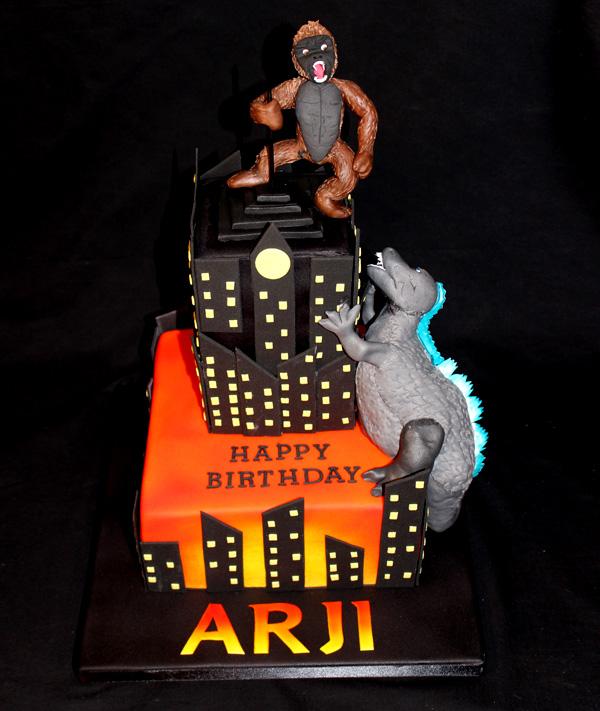 King Kong & Godzilla Tower Cake