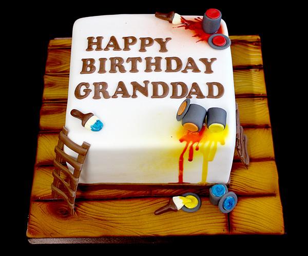 DIY Painting Granddad Cake