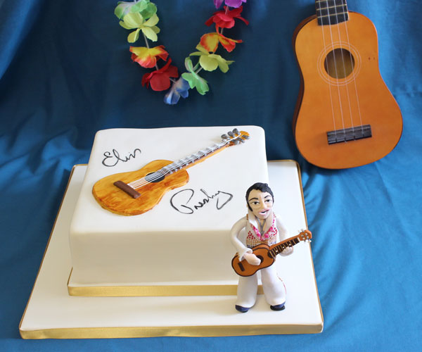 Elvis Guitar Cake