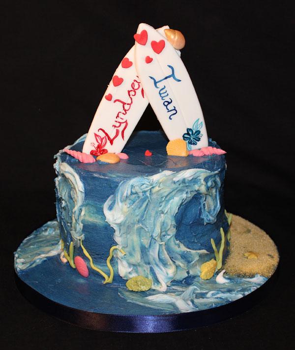 Engagement Surfers Cake