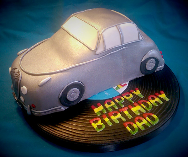 Jaguar & Record Dad Cake