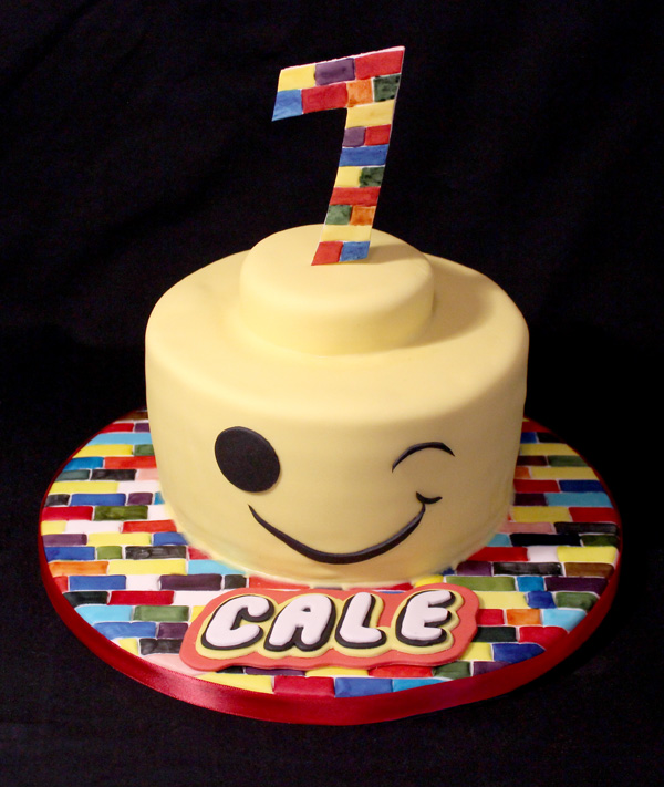 1st Lego Head Cake