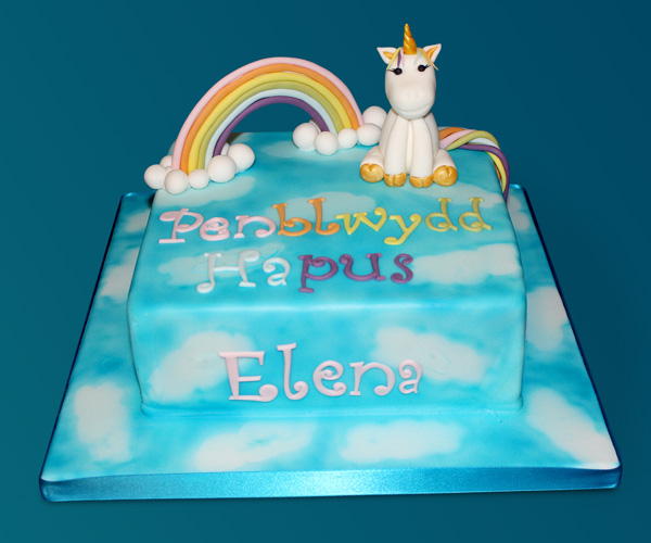 Rainbow & Unicorn Cake