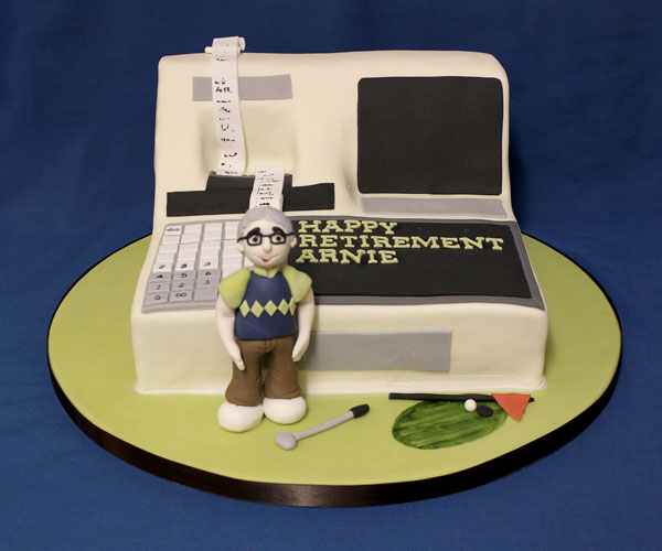 Happy Retirement Accounts & Golf Cake