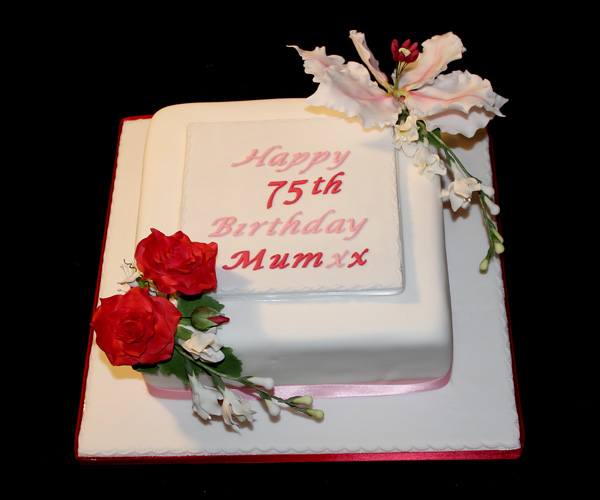 75th Rosies and Lillies Cake