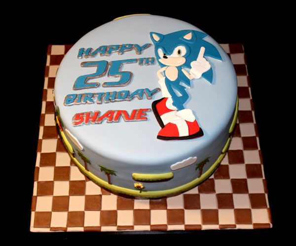 25th Sonic Hedgehog Cake