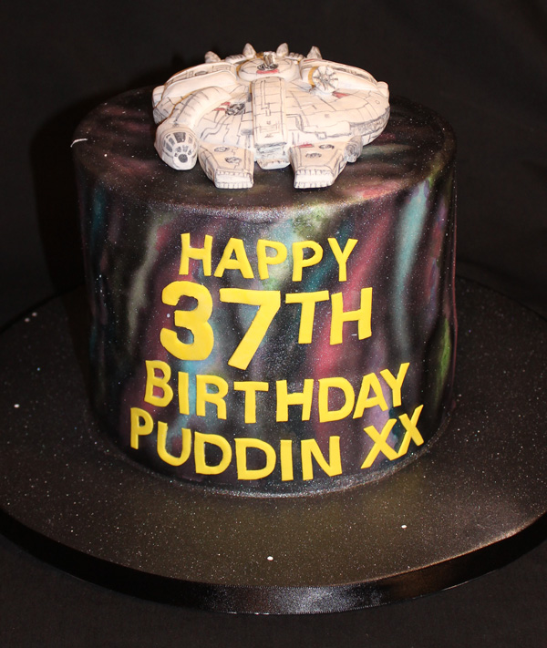 37th Millennium Falcon Star Wars Cake