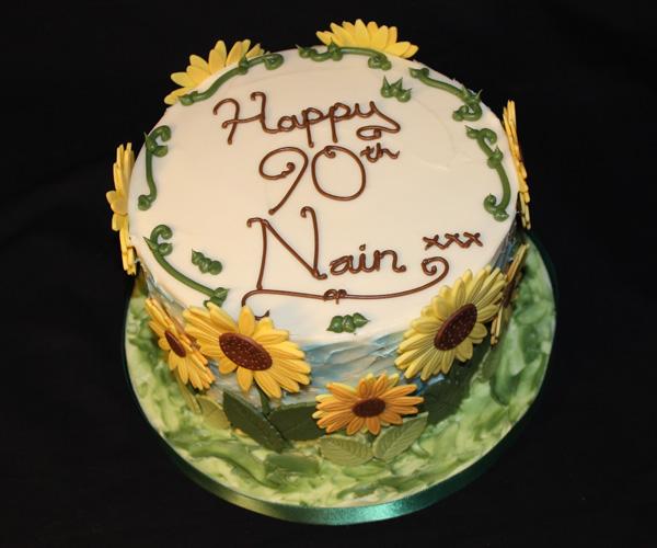 90th Nain Sunflowers Cake