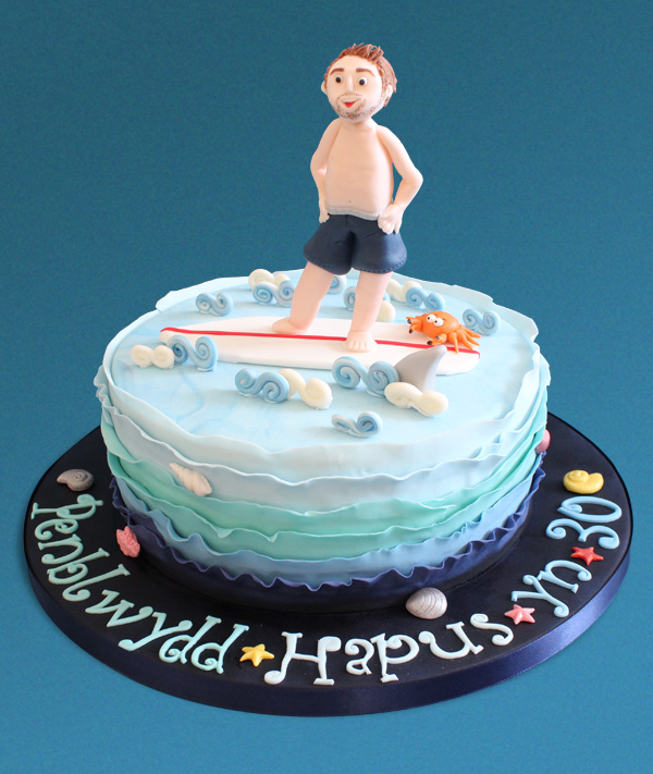 30th Surfer Dude Cake