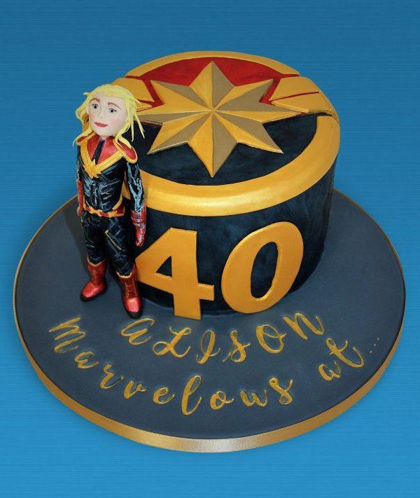 Captain Marvel 40th Cake