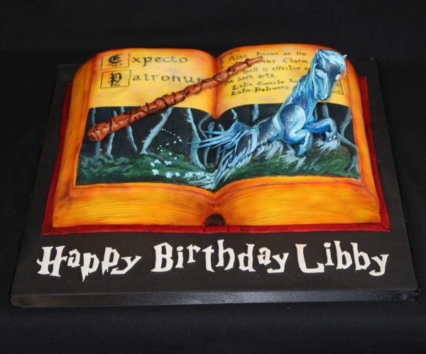 Harry Potter Patronus & Book Cake