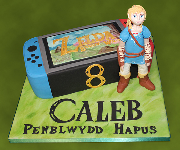 Zelda Link Nintendo Switch Cake